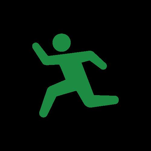 走る人のピクトグラム
