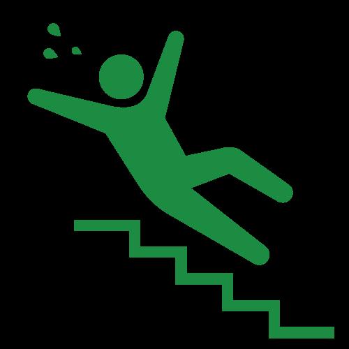 階段で転倒する人