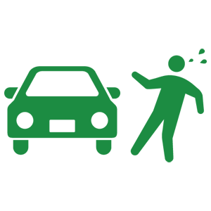 car and pedestrian